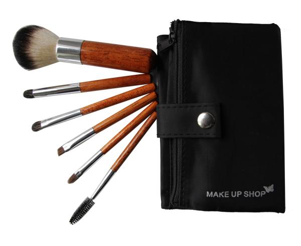 Get Quotations · 6pcs Hot Buying Good Cheap Makeup Brushes UK Smiple Use Wood Makeup Brush Set