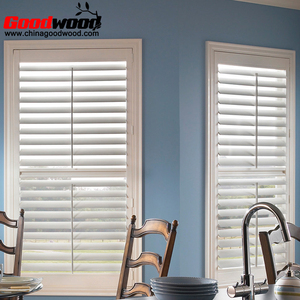 PVC Black Painted Sliding Interior Window Shutters