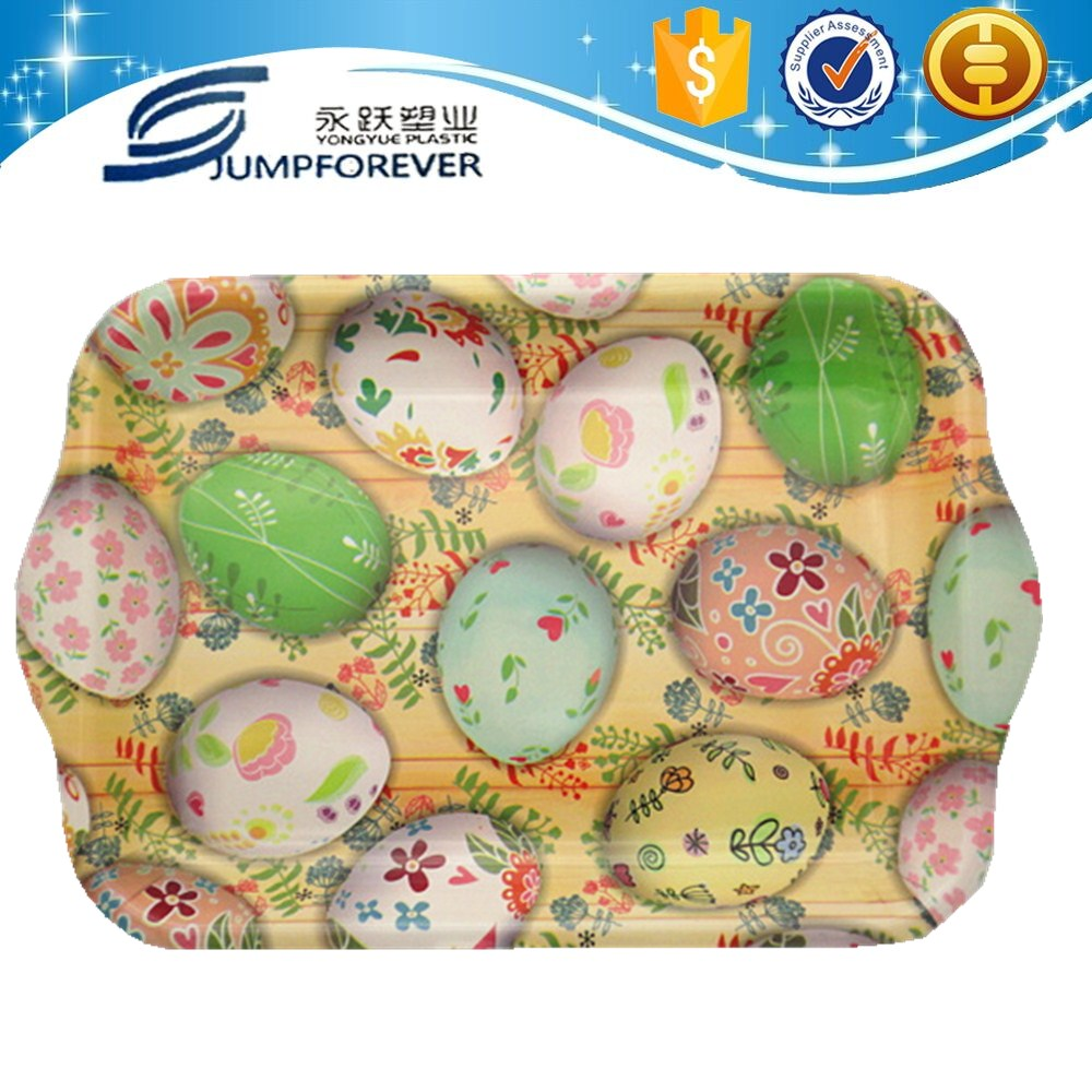alibaba china supplier best selling plastic plates of Easter egg design