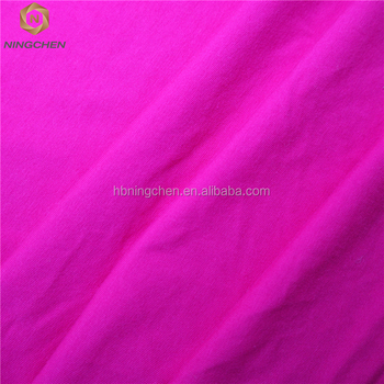 knitted textile high quality cheap100% knitted cotton fabric for wholesale 95% cotton 5% lycra fabric Viscose Plain Dyed