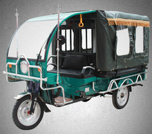 Battery operated three wheeler electric auto tricycle rickshaw for passenger