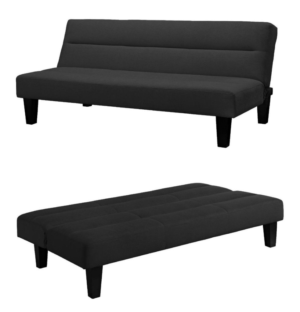 Beau Get Quotations · Black Convertible Living Room Bedroom Dorm Furniture Set  Futon Sleeper Reclining Couch Sofa