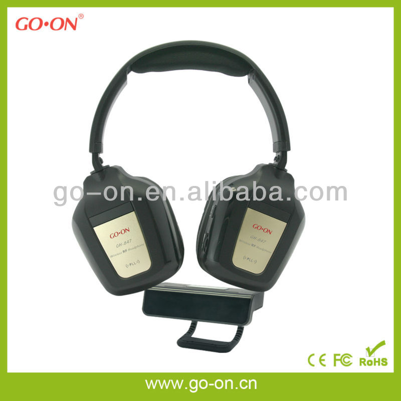 RF 3.5mm jack wireless headphone for TV,PC,MP3