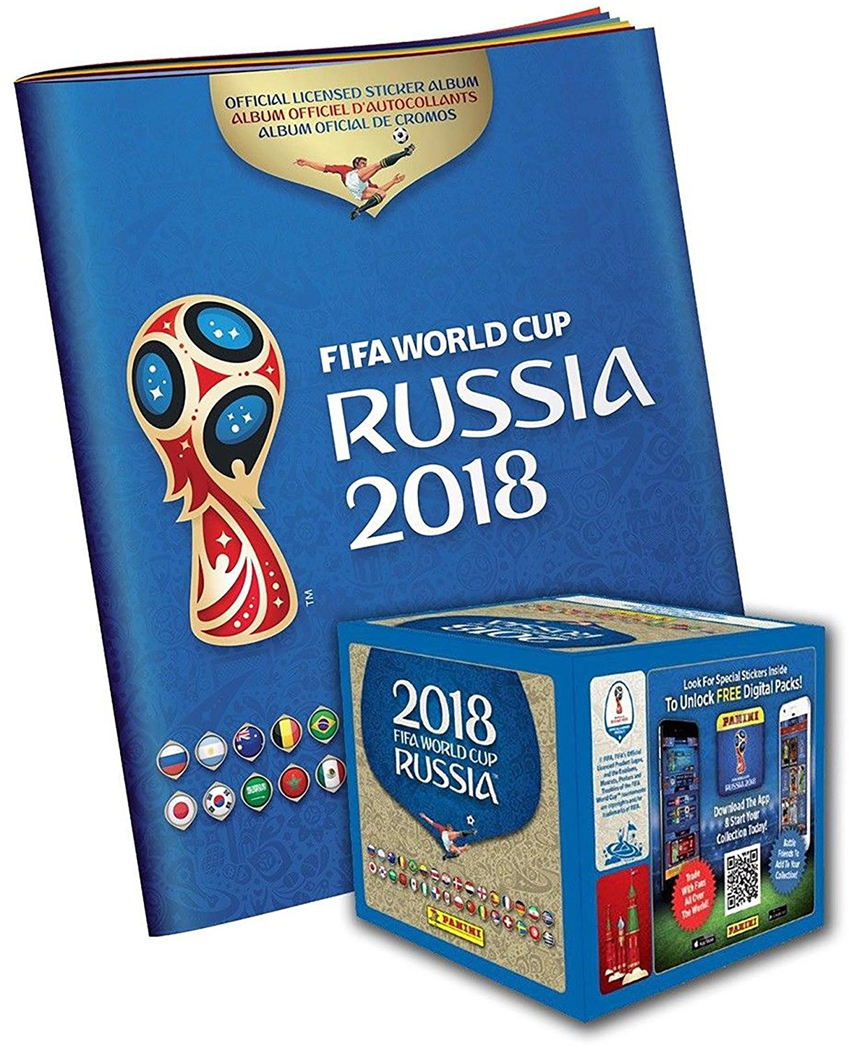 652012646 Get Quotations · 2018 Panini Russia FIFA World Cup Soccer Sticker Bundle  with 50 Pack Box & Sticker Album
