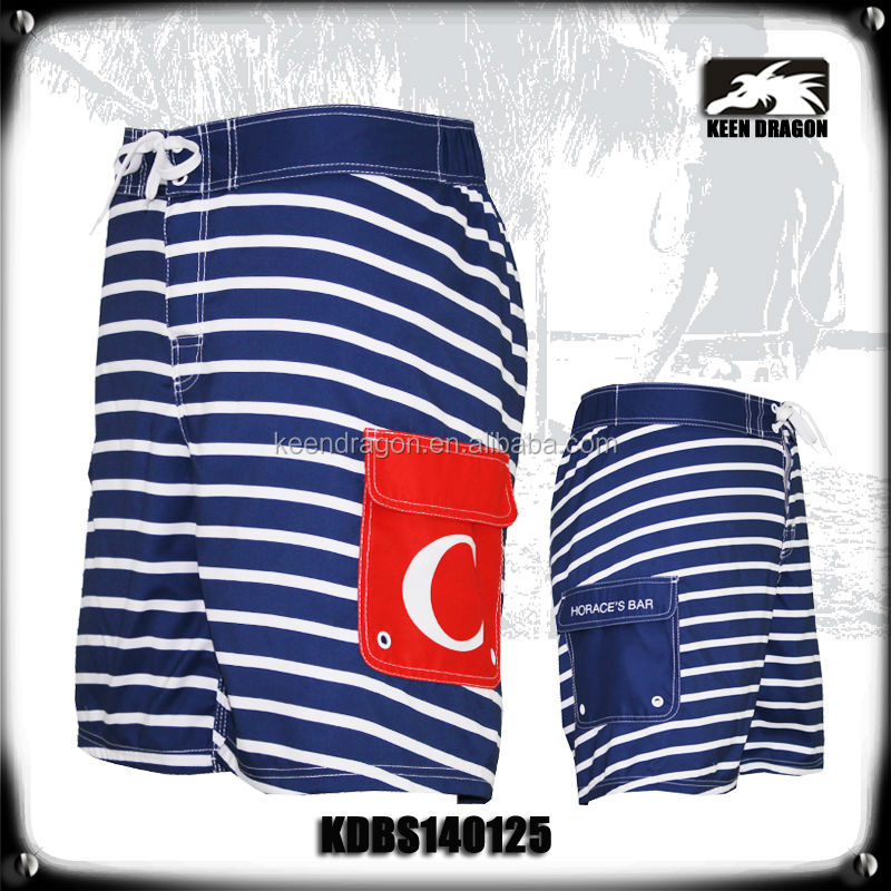 Colorful Stripes Print Beach Surf Board Shorts Hot men board shorts 2014