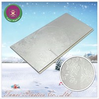 Oriental Flower Figure with Silver Light Design Waterproof Material PVC Ceiling Panel