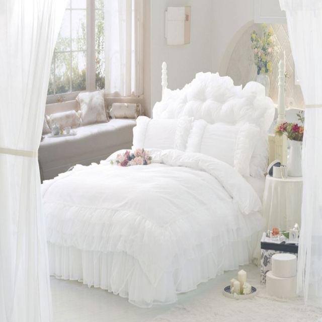 Aliexpress.com : Buy Luxury Snow White Lace Bedspread