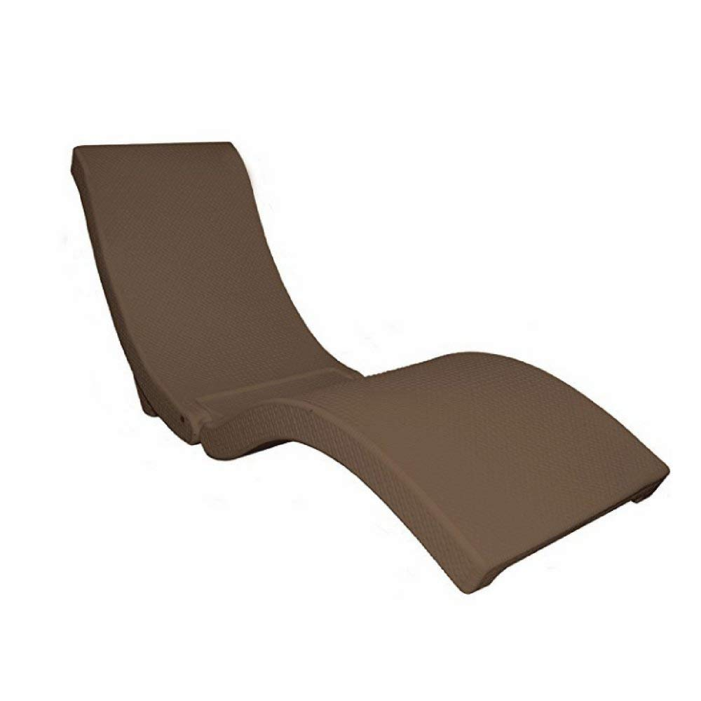 Portable Chaise Lounge, Rattan Material, Brown Color, Foldable, Ideal For Outdoor Spaces, Resistant To Weather Conditions, Stylish Design, Sturdy And Durable Construction & E-Book Home Decor