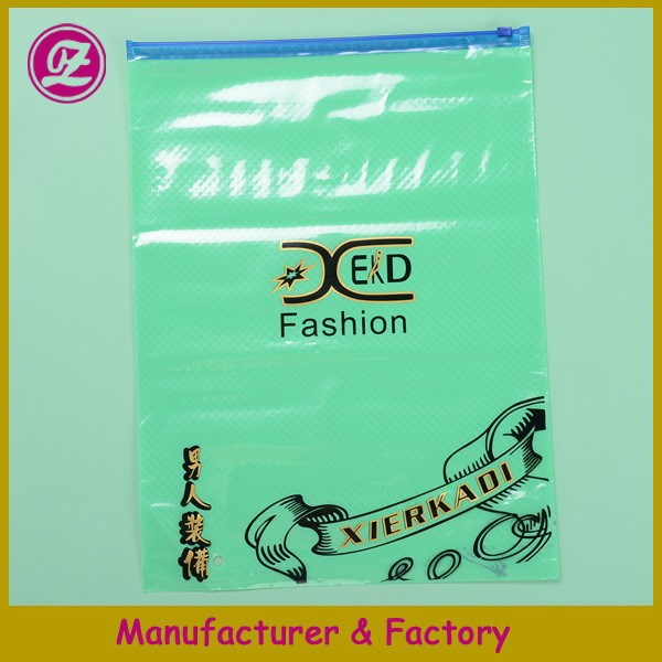 pvc greeting color packaging bag with zipper