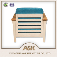 High Quality 2017 New Idea Design Decorated One Set Solid Wood Sofa