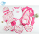Wholesale Fashion Cute Design Soft Cotton Newborn Baby Clothes Gift Set 2018 Summer