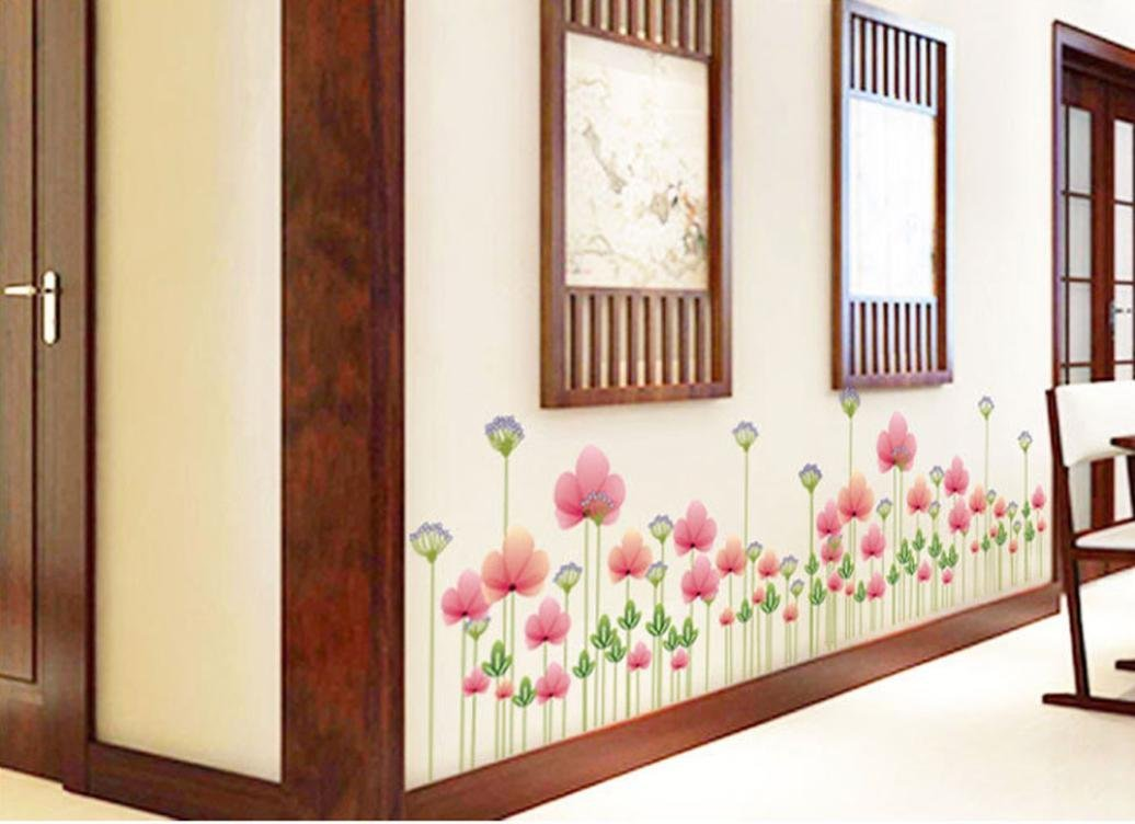 Oksale® Lotus Flower Wall Stickers Papers PVC Art Vinyl Removable Bedroom Living Room Home Showcase Applique Mural Decor Decal