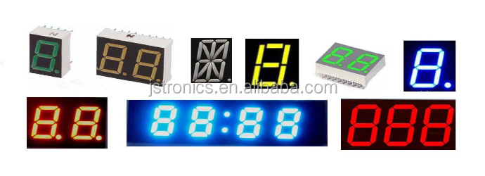 Led alfanumerico 0.39 pollice singola cifra 14 segmenti led display