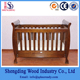 NZ pine sleigh baby cot/baby crib/timber cot