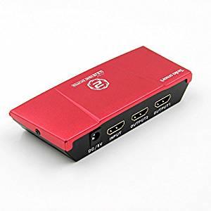 HDMI Splitter, LiteXim 1x2 HDMI Splitter Amplifier Ver 1.4 Support 4k & 3D