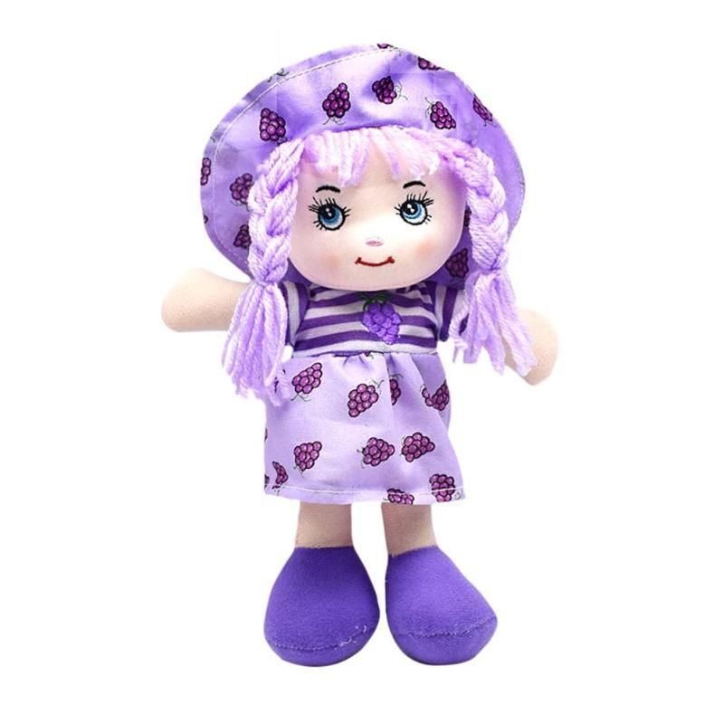 25 см мультяшная кавайная фруктовая юбка шапка тряпичная кукла мягкие милые детские тканевые Игрушки для маленьких девочек, ролевые игры дл...(Китай)