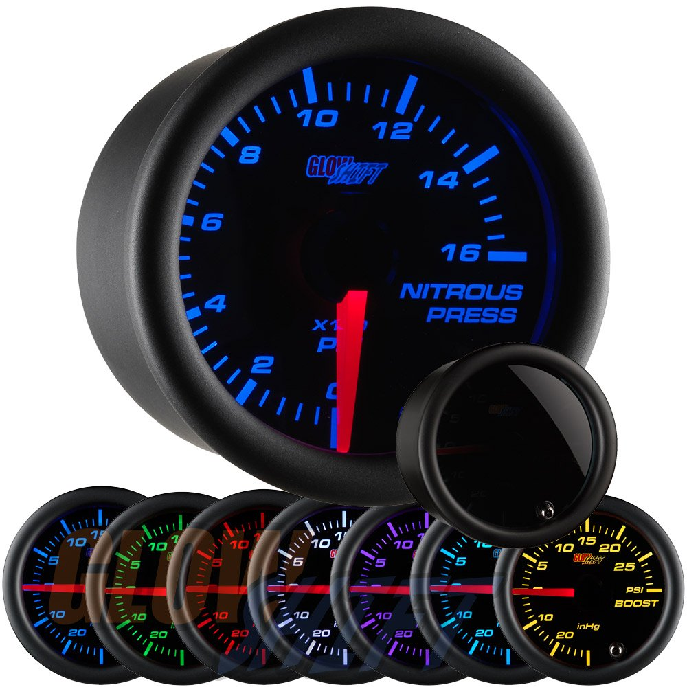 GlowShift Tinted 7 Color Nitrous Pressure Gauge