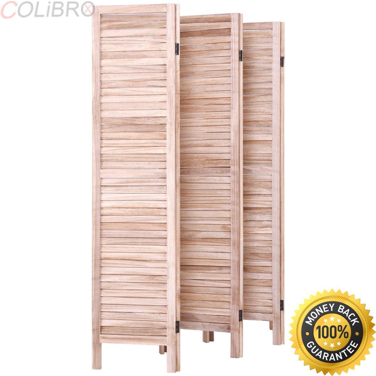 "COLIBROX--67"" High 6 Panel Room Divider Furniture Classic Venetian Wooden Slat Home Brown. venetian room divider.wood room dividers screens.best wooden room dividers amazon.cubicle room divider."