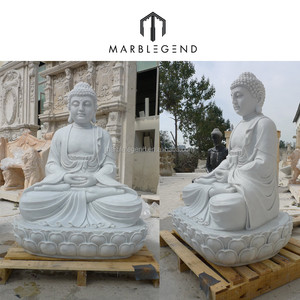 Natural marble sitting giant buddha statue of high quality and good price