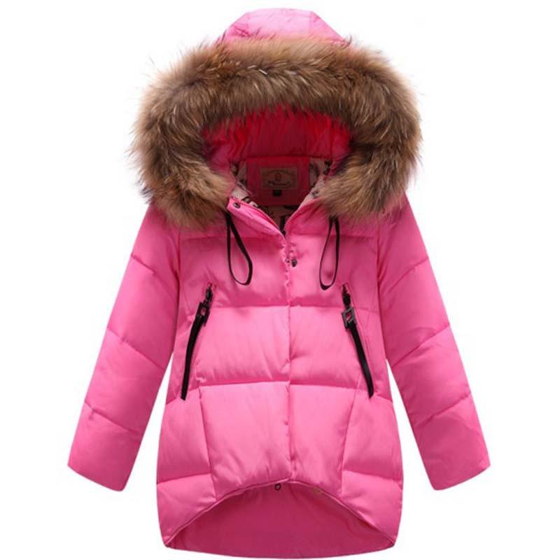 Girls Fur Coat With Hood