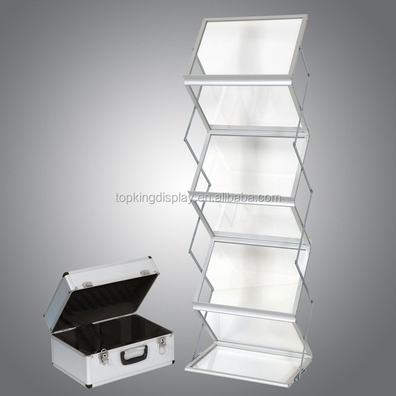 acrylic folding Literature stand, Brochure holder for exhibition