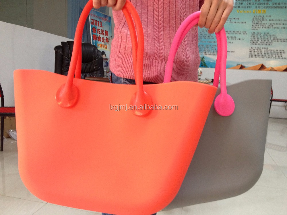 Fashion Candy Color Tote Bag Jelly Silicone Shoulder