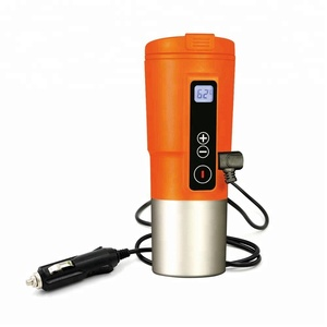 Smart Temperature Control Mug -Redsalmon 12V Electric Heated Travel Coffee Mug with 304 Stainless steel and PP 410ML/Orange