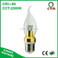 3w 4w 5w 6w e12 e26 candelabra led light bulbs medium base