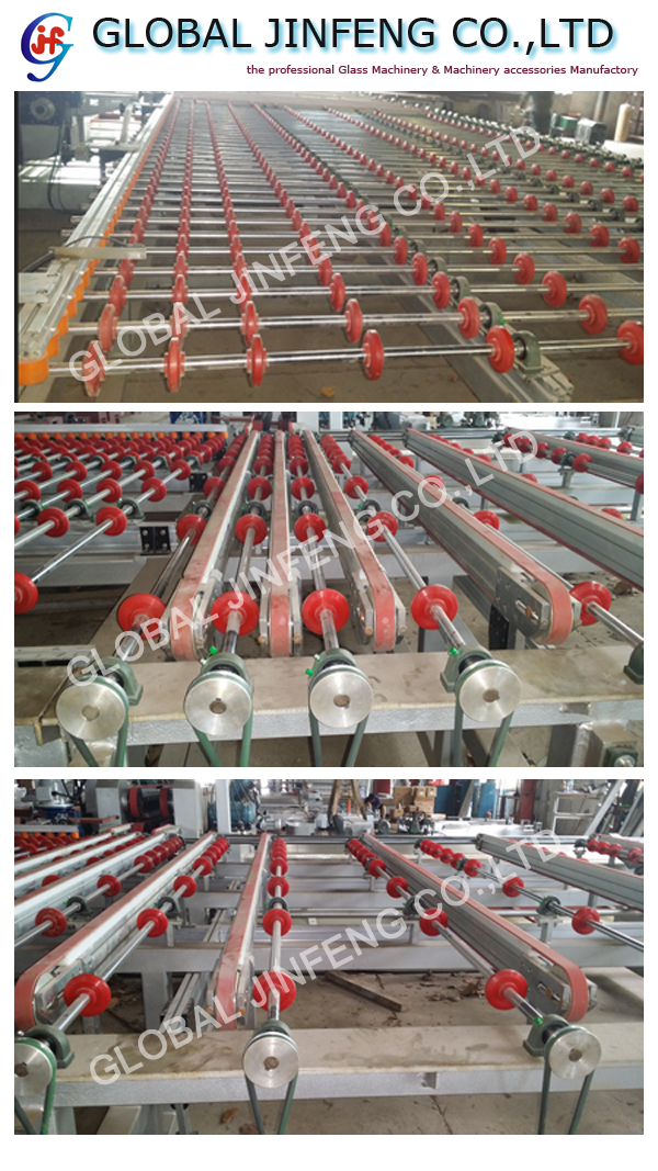 JFD4225 Glass straight line double edger line with L type automatic transfer table