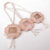 Embossed rose gold foil plastic tag lock for jewelry