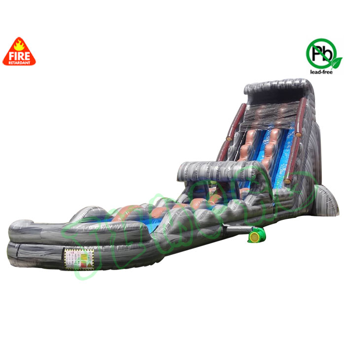32ft tall giant rampage inflatable water slide China factory price