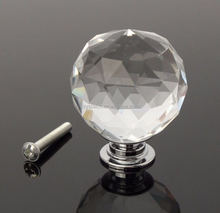 Clear crystal glass knob, handle for drawer,cabinet,door