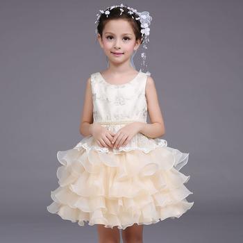 7fb6baa4e QGZ008 Wholesale children's wedding dress flower girls new princess summer  party dress