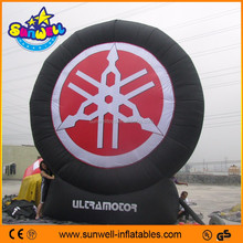 inflatable giant advertising tire display/ outdoor giant inflatable tire for advertising