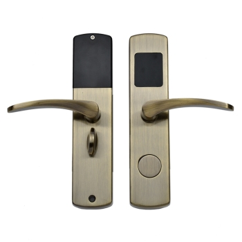 Hotel Guest Room Swipe Card Unlocking  Door Lock With European Standar Lock Case