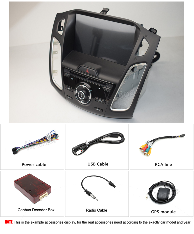 for ford for focus double din radio