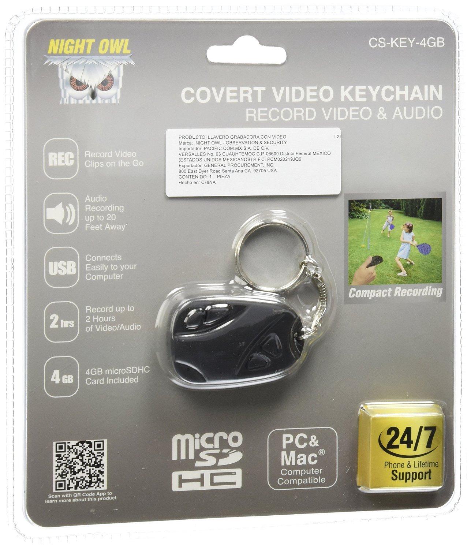 Night Owl Security CS-Key-4GB Video Key Chain Recorder with 4 GB Micro SD Card