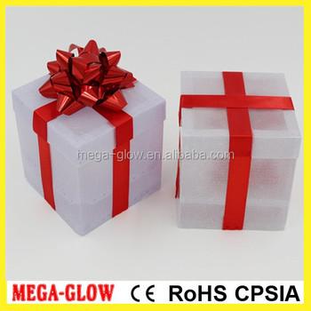 High Quality Wedding Gifts Led Light Up Pvc Gift Box 1 Dollar Store