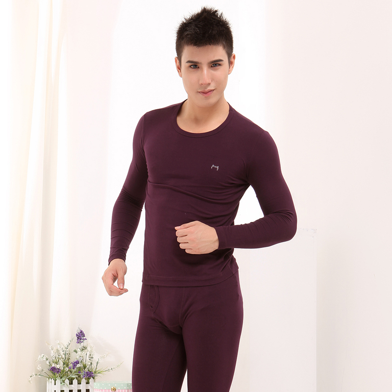 New arrival autumn and winter thermal underwear MAOREN thin 100% male cotton o-neck tight-fitting long johns long johns set