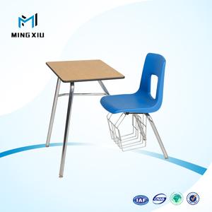 China supplier low price modern comfortable conjoined school desk and chair