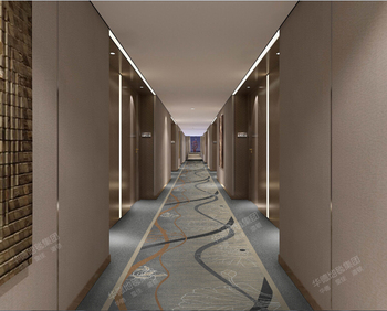 Machine Make Corridor Hallway Carpet For Apartment Hotel