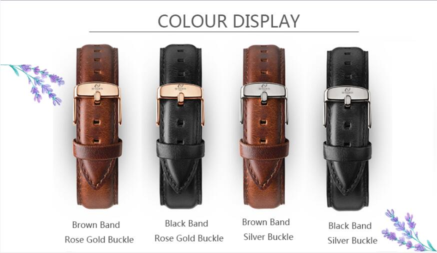 Low price oem watch strap genuine leather watch strap interchangeable leather watch strap