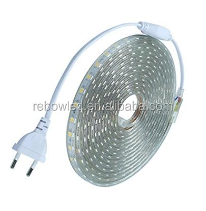 high quality safe waterproof IP67 60led/m smd 5050 flexible led strip lights 220v