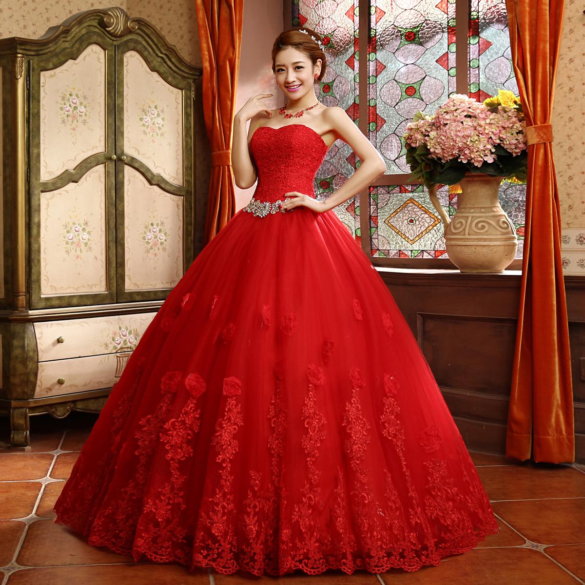Red Wedding Dresses: Robes étonnantes Blog: Robe De Mariee Rouge Pas Chere