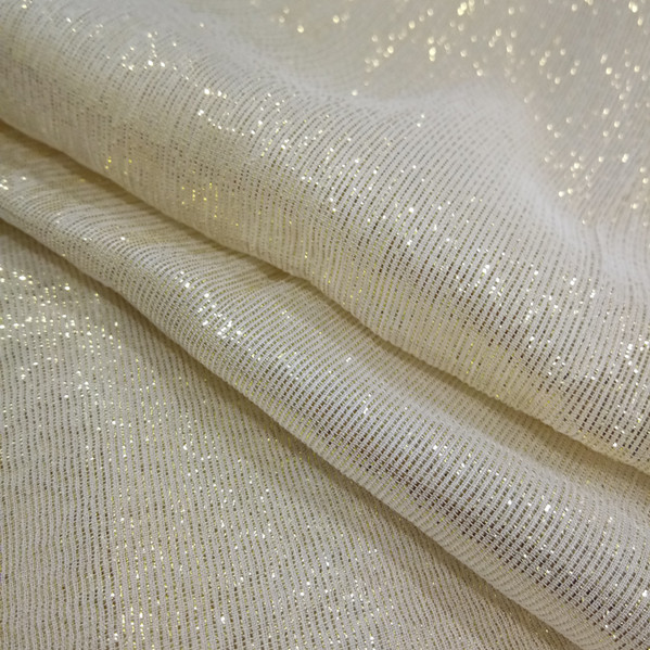 Lurex silk chiffon fabric