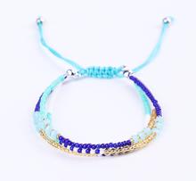 Трехслойный разноцветный браслет из бисера MIYUKI в богемном стиле и браслет для женщин и мужчин, регулируемый Шарм, этнические украшения для ...(Китай)