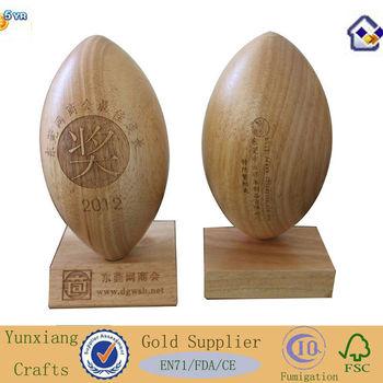 American Football Trophies Designs Wood Gift Trophy