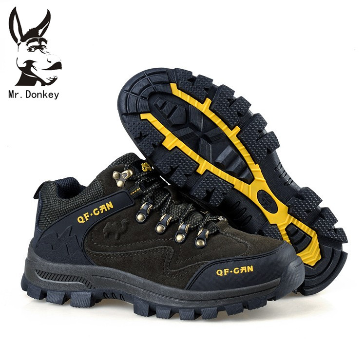 Autumn and winter waterproof wear-resistant slip-resistant shock absorption thermal thickening male outdoor shoes hiking shoes
