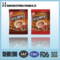 coffee powder coffee granules coffee bean aluminum foil sachet packaging with custom printed logo design
