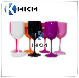 Unbreakable champagne flutes, black/yellow Pink plastic wine glass. BPA free Tritan Goblets for parties, outdoor events